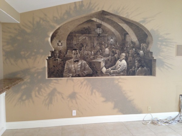 Casablanca on the living room wall