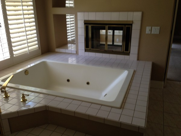 Goodbye spa tub and fireplace!