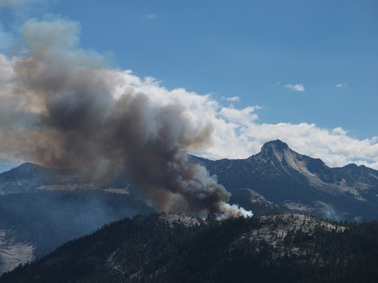 Meadow Fire from Glacier Pt.