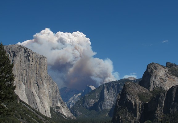Meadow Fire from Tunnel View.
