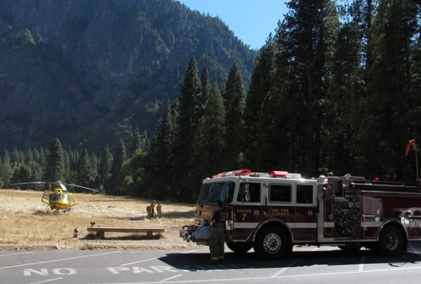 Helicopter operations at Ahwahnee Meadow.