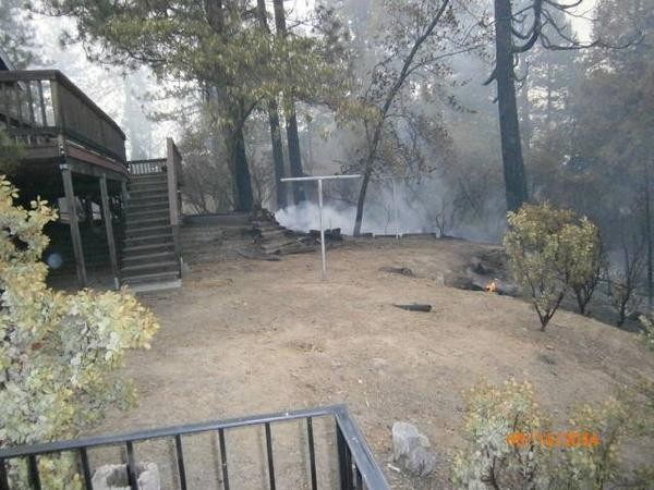 Courtney Fire defensible space. Courtesy KVPR