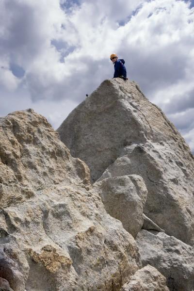 Carl on the summit block