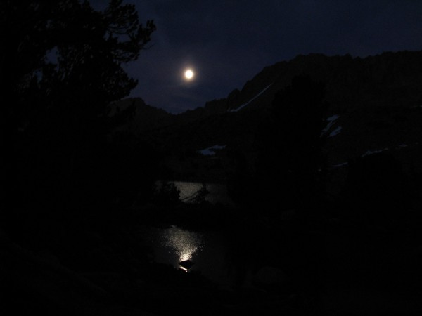 Moon over Elinore Lake