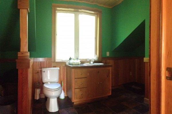 New upstairs half bath