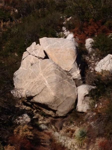 Crazy dike boulder