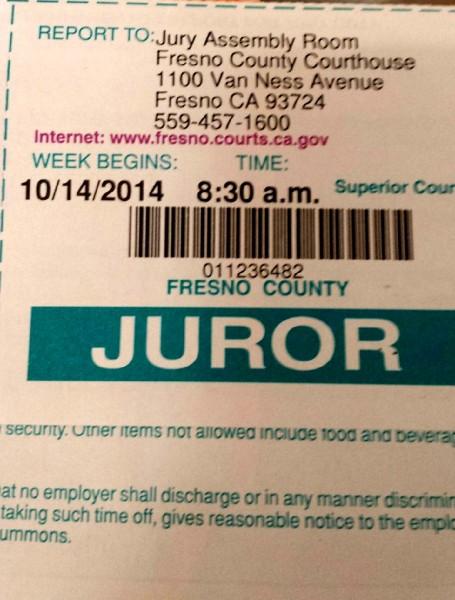 jury duty fresno
