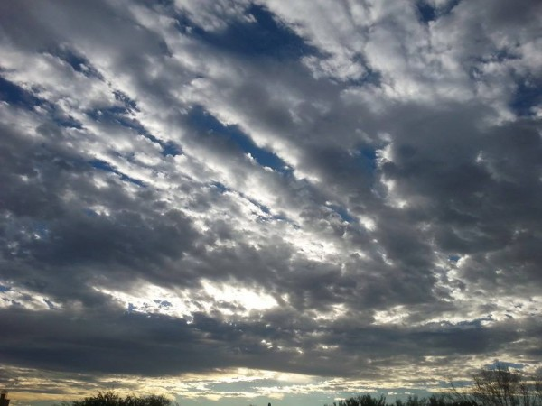 Looking East from the Tucson Mountains  <br/> 7:15am <br/> Oct. 17 2014