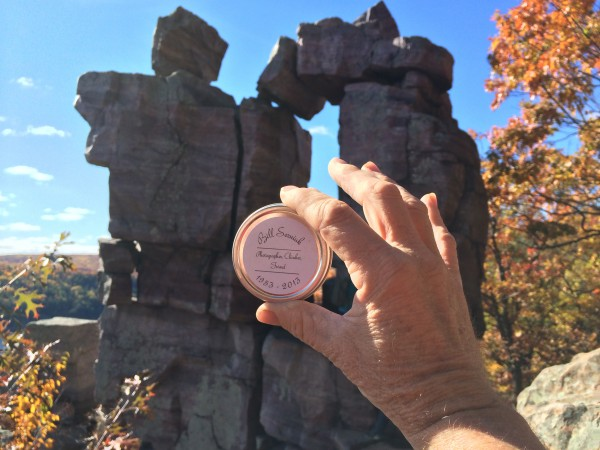 Walter makes it to Devil's Doorway, Devil's lake on a beautiful day. H...