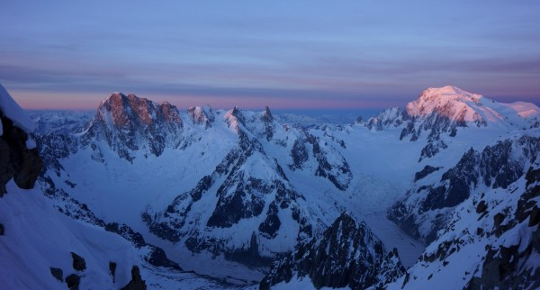 Les Grandes Jorasses and Mont Blanc