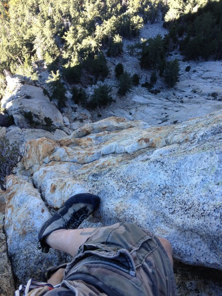 On White Maiden's Walkaway at Tahquitz