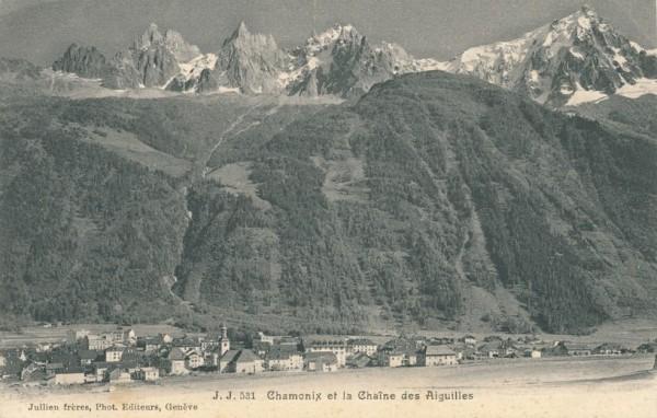 Chamonix et la Chaine des Aiguilles