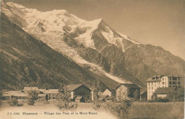 Village des Prez et le Mont Blanc