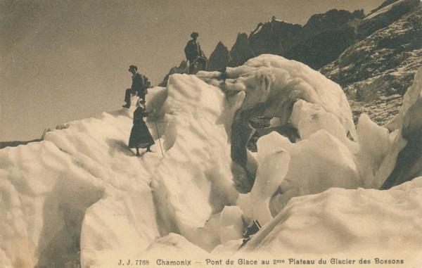 Pont de Glace au 2me Plateau du Glacier des Bossons