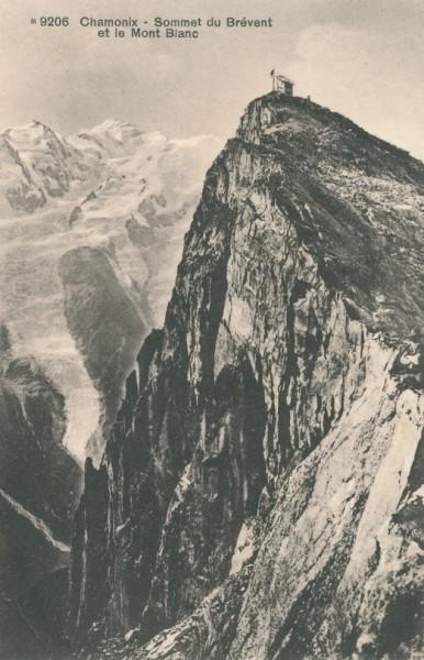 Sommet du Brevent et le Mont Blanc
