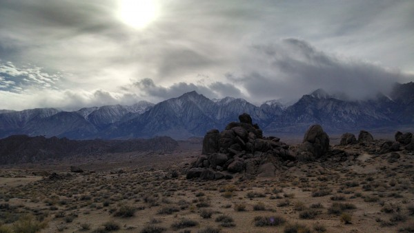 Storm moving in over the Alabama Hills.