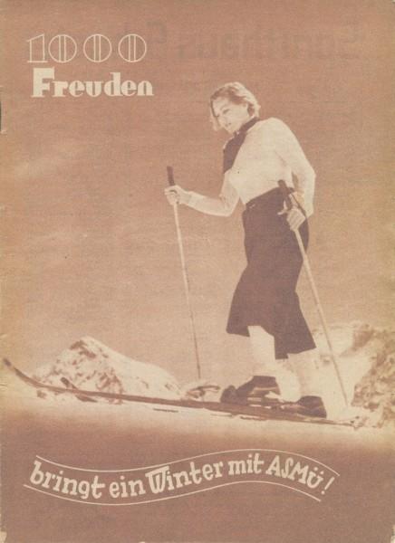 ASMU katalog Winter 1937-38 Sporthaus Schuster Munchen