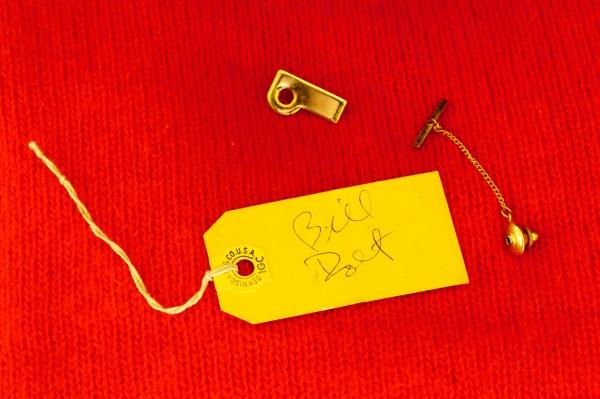 "Bill Dolt's handmade Tie Tack. He trademarked the name ""TIENAIL"""