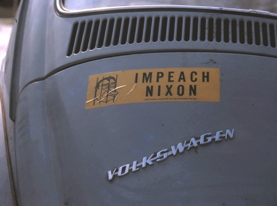 1974 bumper sticker on my 1967 bug.