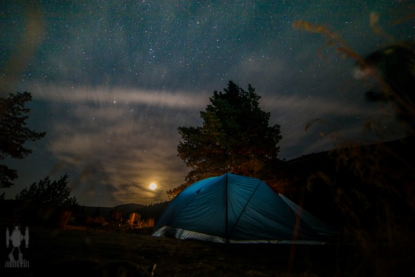 Moonrise over Trout Creek, Or