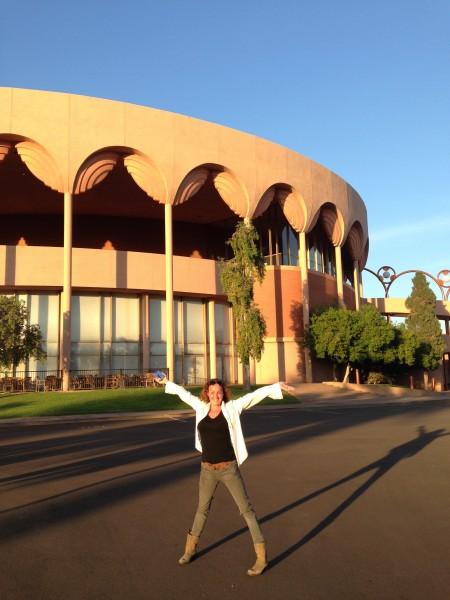 Ryan Adams and Jenny Lewis at Gammage Auditorium, a Frank Lloyd Wright...