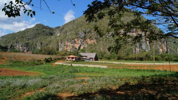 The cliffs outside of Vinales