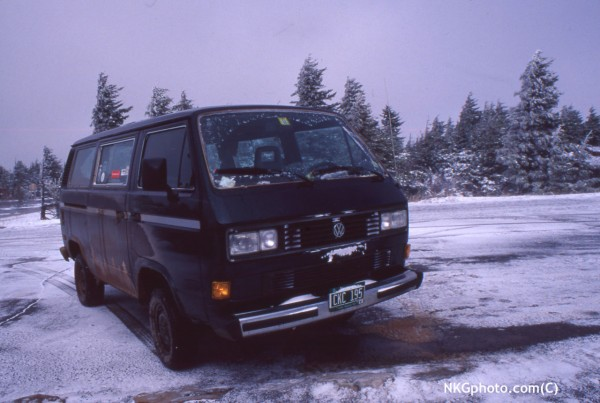 vanagon Syncro. Seneca in April long time ago...
