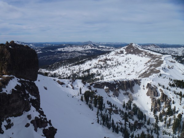 Part of Castle Peak, Boundary Peak, The Sierra Buttes, and Lassen bare...