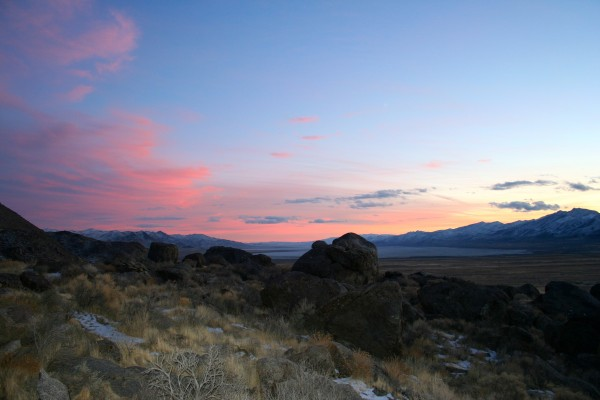 Northern Nevada Desert Twilight