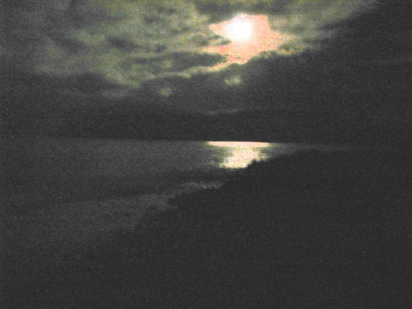 moon,water,clouds
