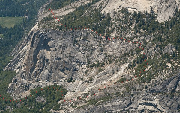 North Dome Gully descent
