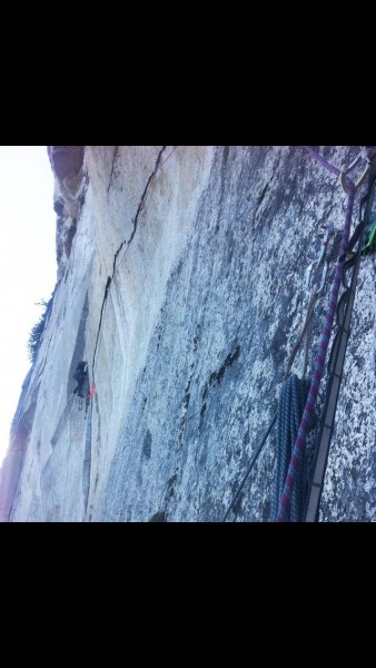 Me at the end of the expando traverse on p3