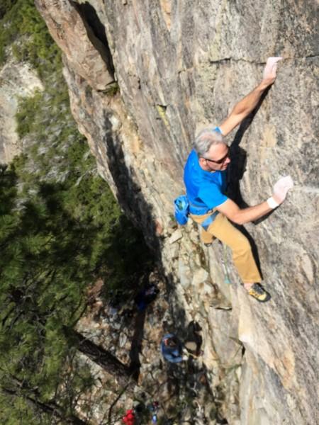 Max Jones starting up Shangri-La .10b. Rediscovery Dome, Bowman Valley...