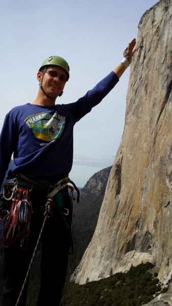 Tomas ensures that El Cap stays upright
