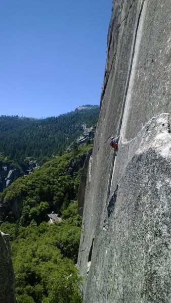 2nd pitch of Reed's Direct Route (5.9)