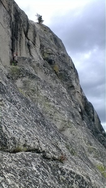 1st pitch of Beginners Route (5.4 R)