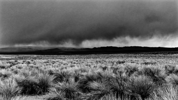 Storm approaching Mono Lake