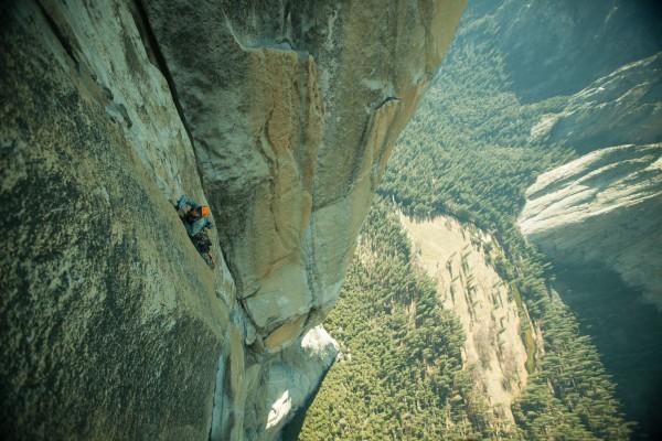 Michael Nerby climbing pitch 31.