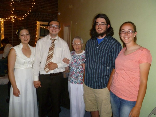 Daughter-in-law, grandson(our kid), mom and two of the cousins...