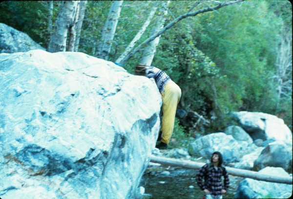 Richard and Ricky, mid 1970's. This mantle is just downstream from Roc...
