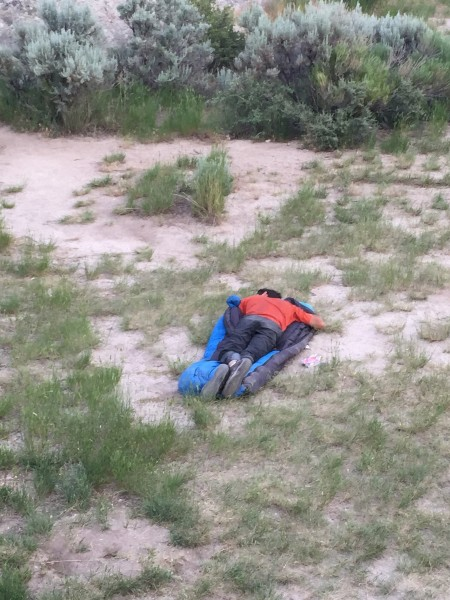 "A true ""dirtbag"" is sleeping bag in the dirt."