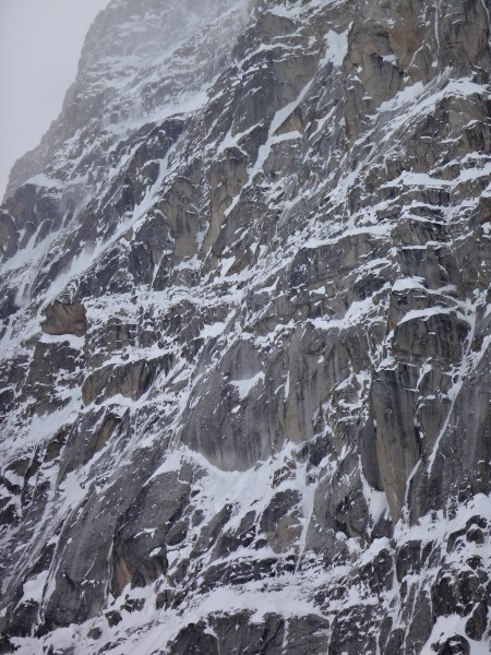The North Buttress in storm