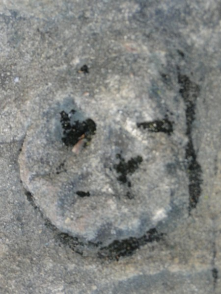 Face in the rock at Echo Cliffs