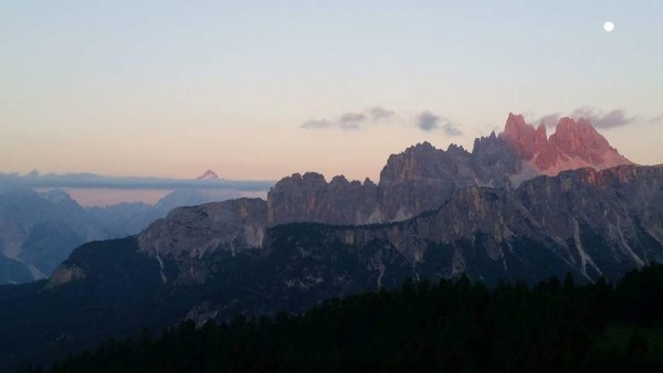View from Cinque Torri in the Dolomites