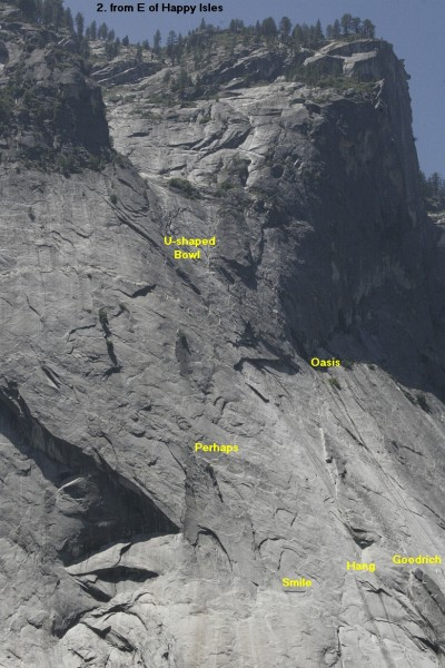Glacier Point Apron - Left Side, from East of Happy Isles