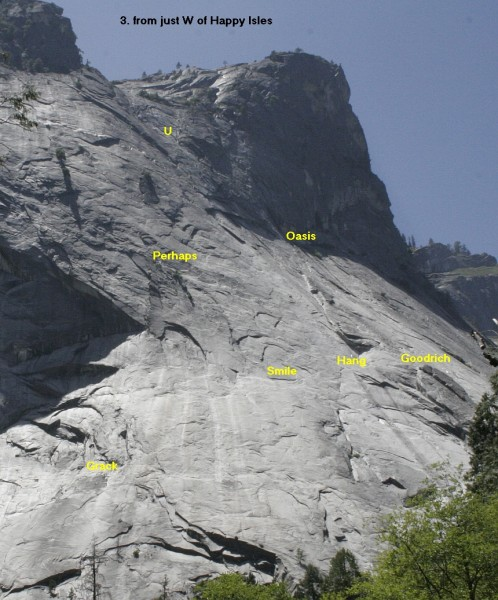Glacier Point Apron - Left Side, from just West of Happy Isles
