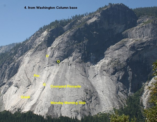 Glacier Point Apron - Center, from Washington Column base; 