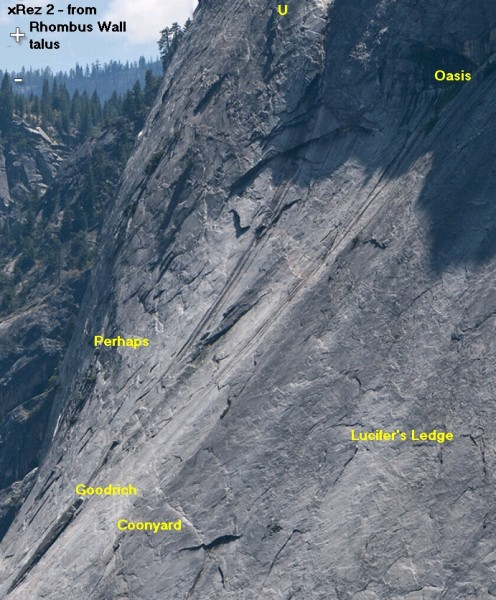 Glacier Point Apron - Center, from Rhombus Wall talus