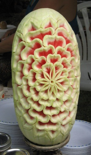 Watermelon carving...