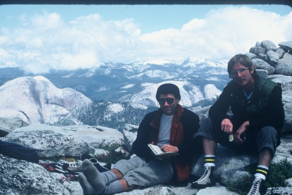 Picture of Wayne Campbell and me taken by Jan on the summit. Note the ...